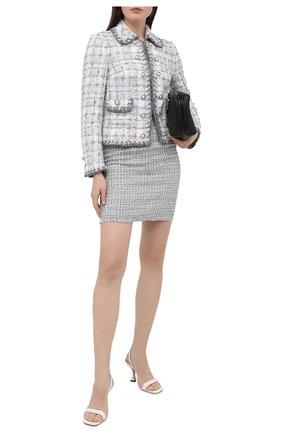 Женская юбка DOLCE & GABBANA серого цвета, арт. F4BWWT/FQ0AB | Фото 2