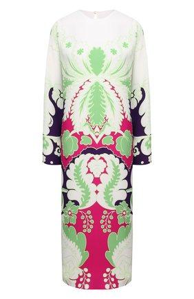 Женское шелковое платье VALENTINO фуксия цвета, арт. VB3VAVC067H | Фото 1