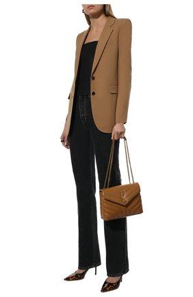 Женские кожаные туфли love 85 JIMMY CHOO леопардового цвета, арт. L0VE 85/0P0 | Фото 2