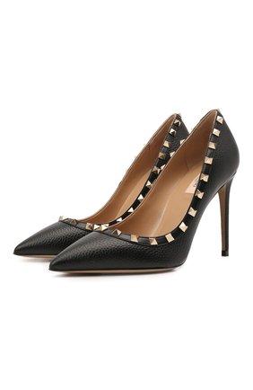 Женские кожаные туфли valentino garavani rockstud VALENTINO черного цвета, арт. VW2S0057/VCE | Фото 1