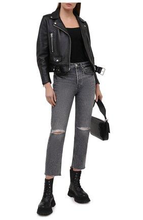 Женские джинсы RAG&BONE серого цвета, арт. WDD20H2747W5ZU | Фото 2