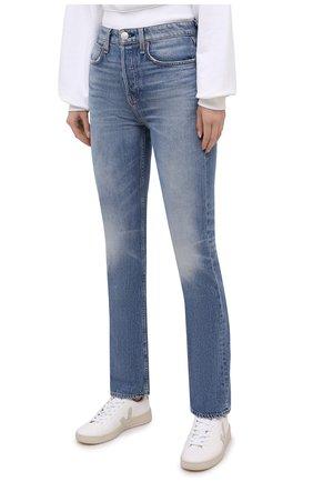 Женские джинсы RAG&BONE синего цвета, арт. WDD20H2746B1AQ | Фото 3