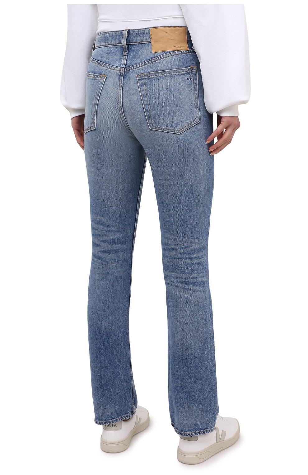 Женские джинсы RAG&BONE синего цвета, арт. WDD20H2746B1AQ | Фото 4