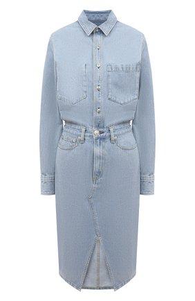 Женское джинсовое платье RAG&BONE голубого цвета, арт. WCW20H30014C01 | Фото 1