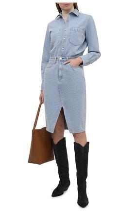 Женское джинсовое платье RAG&BONE голубого цвета, арт. WCW20H30014C01 | Фото 2