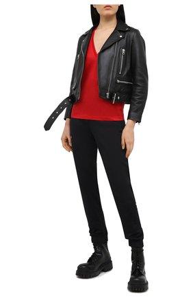 Женская хлопковая футболка DSQUARED2 красного цвета, арт. S75GD0157/S23848 | Фото 2