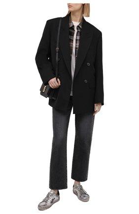 Женские кожаные кеды steven-d PREMIATA серебряного цвета, арт. STEVEND/VAR4713 | Фото 2
