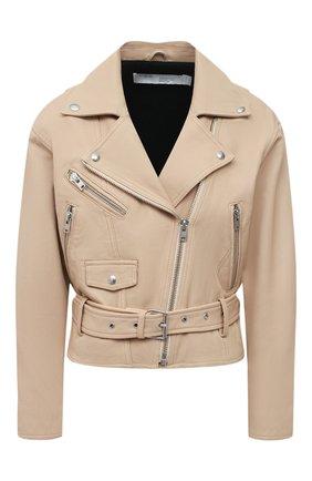 Женская кожаная куртка IRO бежевого цвета, арт. WP09DISTHEN | Фото 1