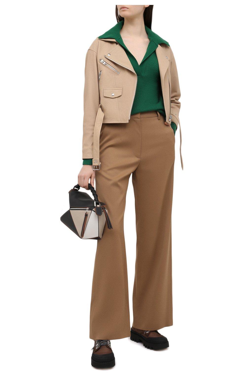 Женская кожаная куртка IRO бежевого цвета, арт. WP09DISTHEN   Фото 2
