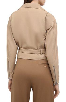 Женская кожаная куртка IRO бежевого цвета, арт. WP09DISTHEN   Фото 4
