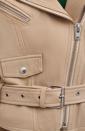 Женская кожаная куртка IRO бежевого цвета, арт. WP09DISTHEN   Фото 5