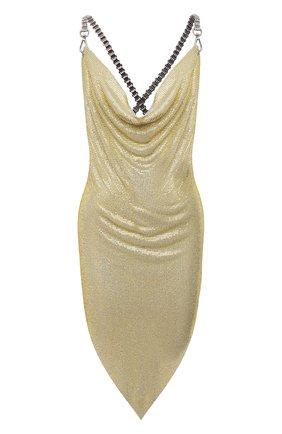 Женское платье GIUSEPPE DI MORABITO золотого цвета, арт. SS21138DR-134 | Фото 1