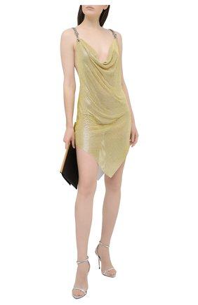 Женское платье GIUSEPPE DI MORABITO золотого цвета, арт. SS21138DR-134 | Фото 2