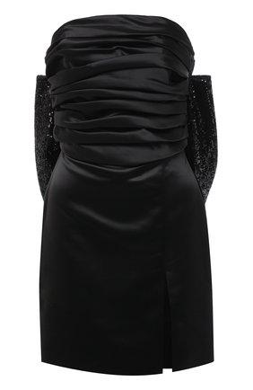 Женское платье GIUSEPPE DI MORABITO черного цвета, арт. SS21187DR-83 | Фото 1