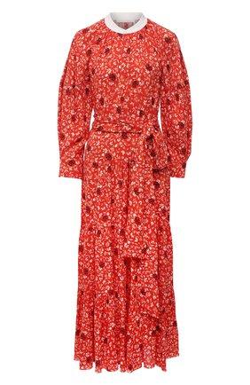 Женское платье из вискозы CHLOÉ красного цвета, арт. CHC21SR002331 | Фото 1