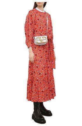 Женское платье из вискозы CHLOÉ красного цвета, арт. CHC21SR002331 | Фото 2