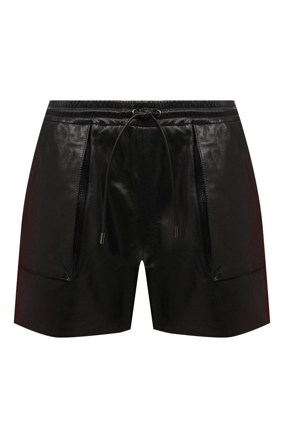 Женские кожаные шорты TOM FORD черного цвета, арт. SHL007-LEX228 | Фото 1