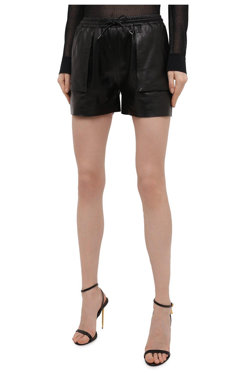 Женские кожаные шорты TOM FORD черного цвета, арт. SHL007-LEX228 | Фото 3