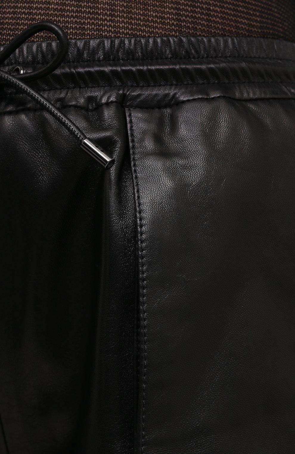 Женские кожаные шорты TOM FORD черного цвета, арт. SHL007-LEX228 | Фото 5