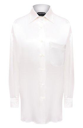 Женская шелковая рубашка TOM FORD белого цвета, арт. CA3189-FAX824   Фото 1