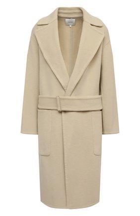 Женское шерстяное пальто VINCE бежевого цвета, арт. V688691298 | Фото 1
