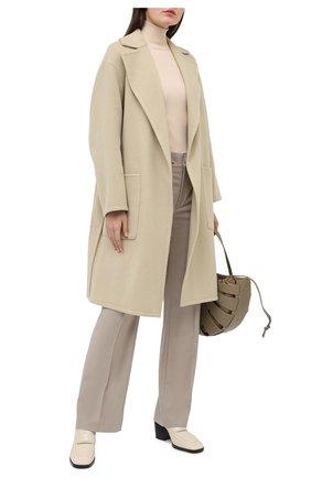 Женское шерстяное пальто VINCE бежевого цвета, арт. V688691298   Фото 2