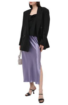 Женская юбка VINCE фиолетового цвета, арт. V718730667 | Фото 2