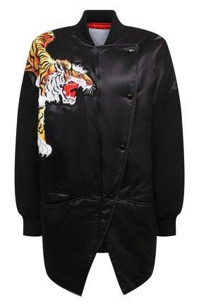 Женская куртка KENZO черного цвета, арт. FB52BL1255KC | Фото 1 (Кросс-КТ: Куртка; Стили: Спорт-шик; Рукава: Длинные; Материал подклада: Синтетический материал; Длина (верхняя одежда): Короткие; Материал внешний: Синтетический материал)