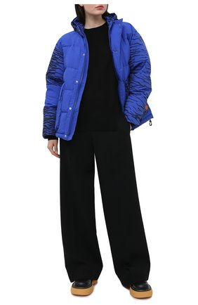 Женский пуховая куртка KENZO синего цвета, арт. FB520U0739KD | Фото 2