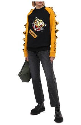 Женский хлопковый свитшот KENZO черного цвета, арт. FB55SW3624MH | Фото 2