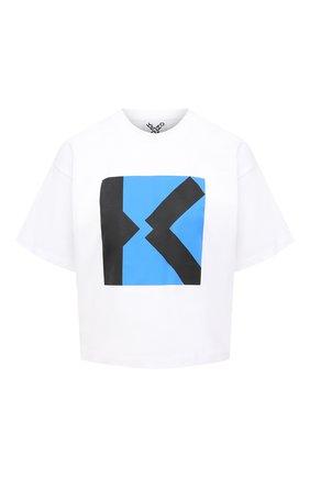 Женская хлопковая футболка kenzo sport KENZO белого цвета, арт. FB52TS6904SJ | Фото 1