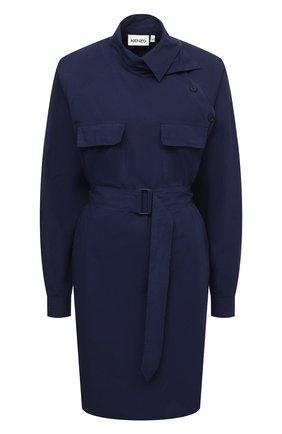 Женское хлопковое платье KENZO синего цвета, арт. FB52R00331LA | Фото 1
