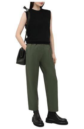 Женские брюки KENZO хаки цвета, арт. FB52PA0275AI | Фото 2