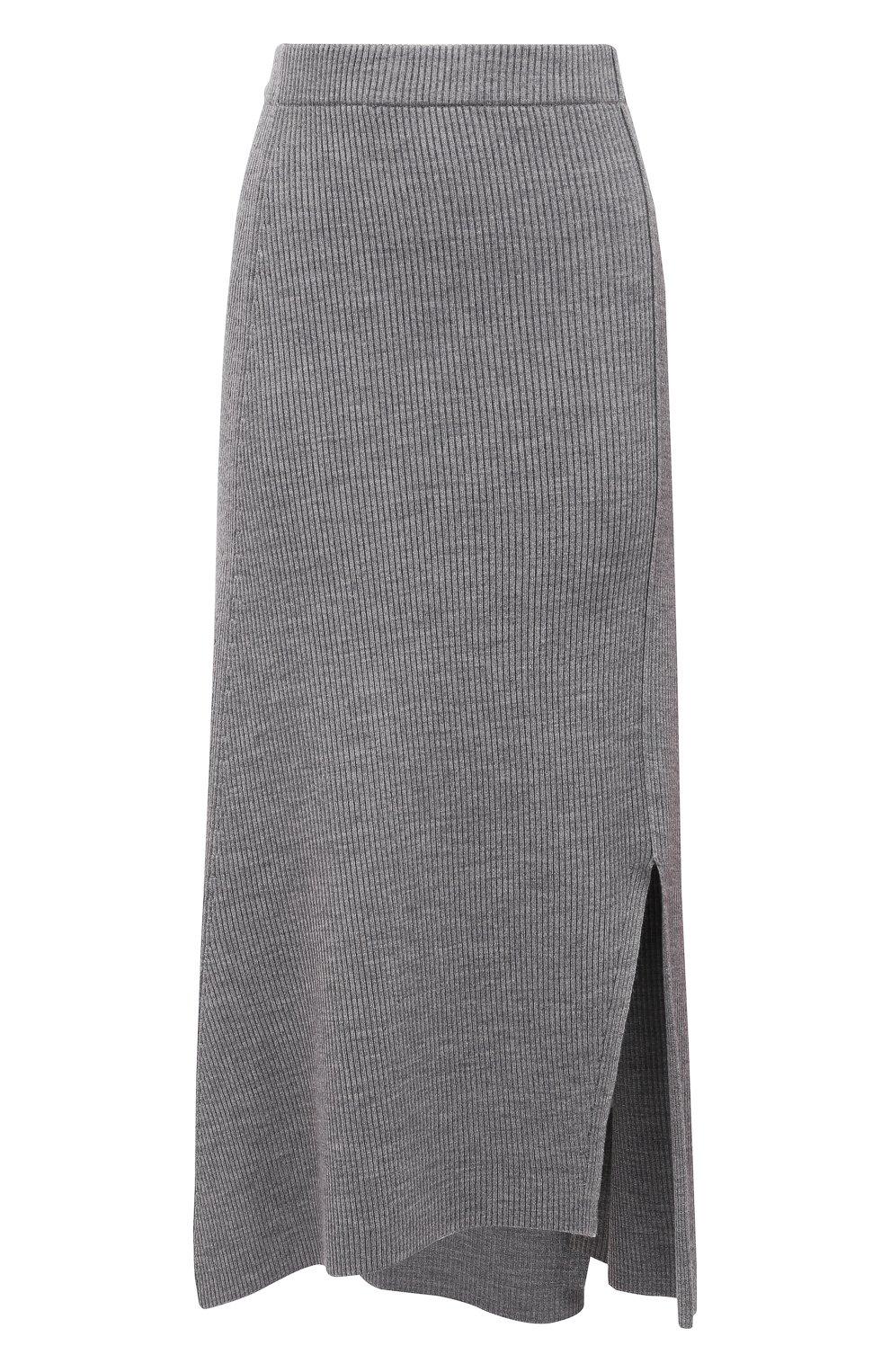 Женская юбка KENZO серого цвета, арт. FB52JU5523AD | Фото 1