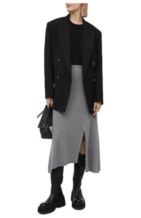 Женская юбка KENZO серого цвета, арт. FB52JU5523AD | Фото 2