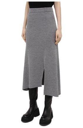 Женская юбка KENZO серого цвета, арт. FB52JU5523AD | Фото 3