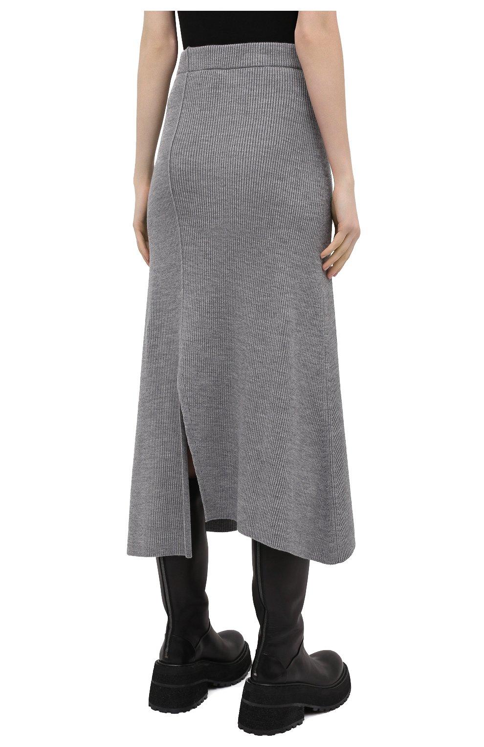 Женская юбка KENZO серого цвета, арт. FB52JU5523AD | Фото 4
