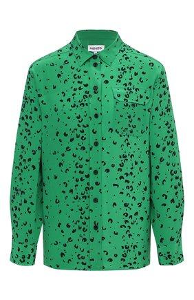 Женская шелковая рубашка KENZO зеленого цвета, арт. FB52CH030521 | Фото 1