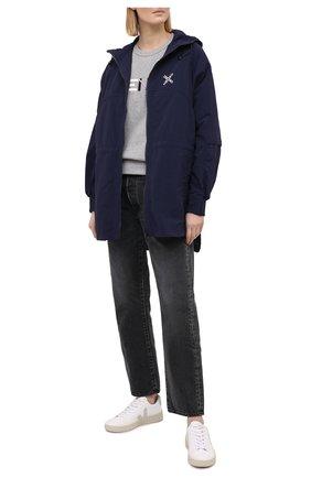 Женский хлопковый свитшот KENZO серого цвета, арт. FA62SW8204M0 | Фото 2