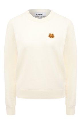 Женский шерстяной пуловер KENZO кремвого цвета, арт. FA62PU5233TA | Фото 1
