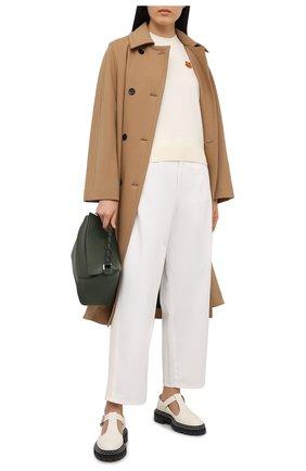 Женский шерстяной пуловер KENZO кремвого цвета, арт. FA62PU5233TA | Фото 2