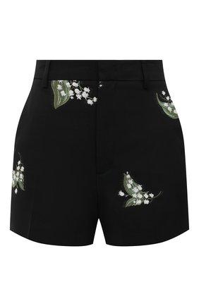 Женские шорты из хлопка и шерсти REDVALENTINO черного цвета, арт. VR3RFD30/5M4 | Фото 1