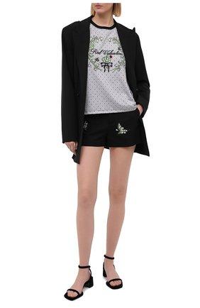 Женские шорты из хлопка и шерсти REDVALENTINO черного цвета, арт. VR3RFD30/5M4 | Фото 2
