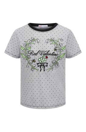 Женская хлопковая футболка REDVALENTINO белого цвета, арт. VR3MG08X/5PR | Фото 1