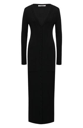 Женское платье из вискозы VALENTINO черного цвета, арт. VB3KA01U68F | Фото 1