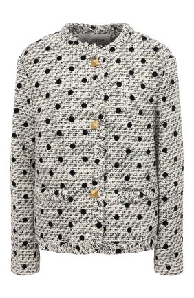 Женский жакет VALENTINO черно-белого цвета, арт. VB3CE27569M | Фото 1