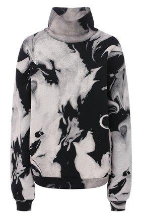 Женский хлопковый свитшот ALEXANDER WANG черно-белого цвета, арт. UCC2201398   Фото 1