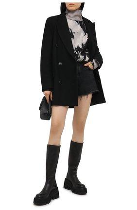 Женский хлопковый свитшот ALEXANDER WANG черно-белого цвета, арт. UCC2201398   Фото 2