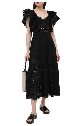 Женское хлопковое платье CHARO RUIZ IBIZA черного цвета, арт. 213613 | Фото 2