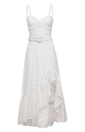 Женское хлопковое платье CHARO RUIZ IBIZA белого цвета, арт. 213611 | Фото 1